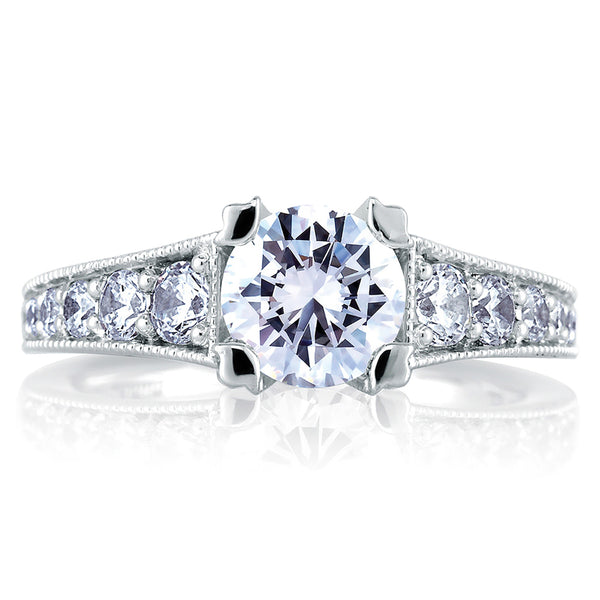 A.Jaffe Classic Milgrain Double Prong Engagement Ring MES441/105