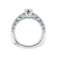 A.Jaffe Cathedral Pave with Diamond Studded Center Prongs Ring MES453/138