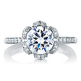 A.Jaffe Nature Inspired Tulip Diamond Engagement Ring MES560/188