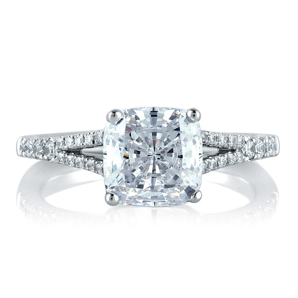 A.Jaffe Classic Crossover Cushion Engagement Ring MES578/170
