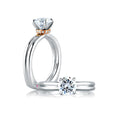 A.Jaffe Golden Single Collar Solitaire Engagement Ring MES581/56