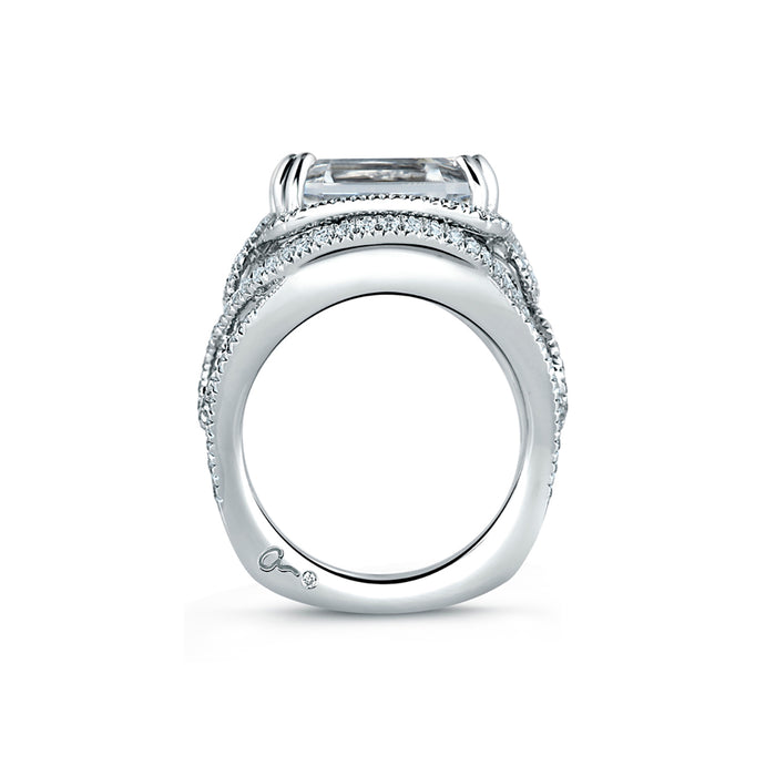 A.Jaffe Square Emerald Cut Statement Ring MES604/112