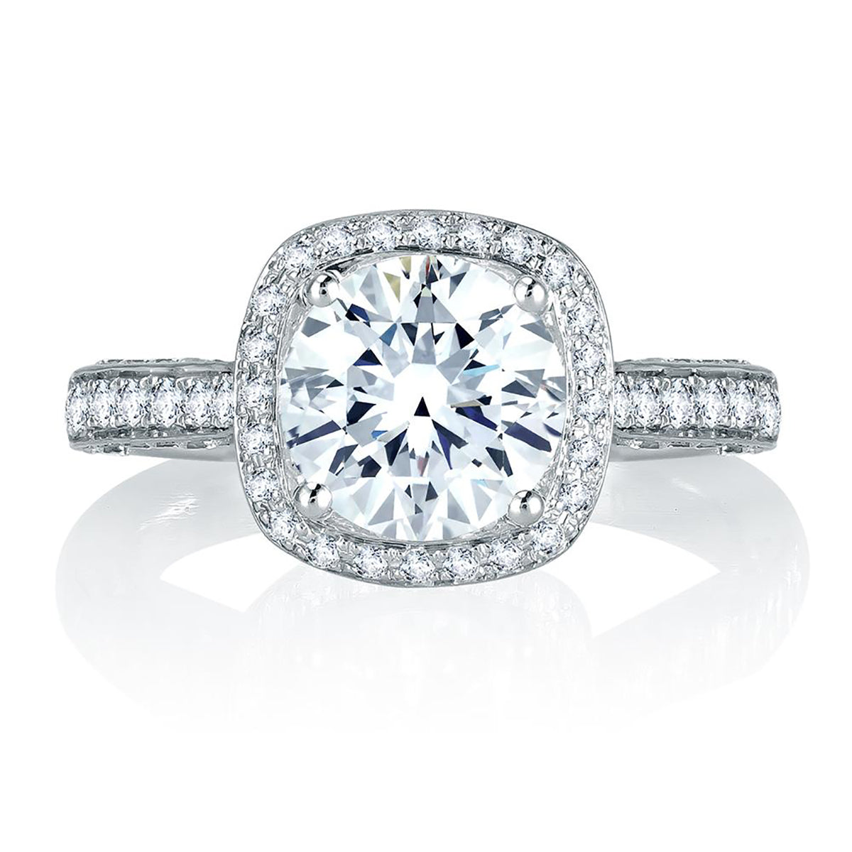 A.Jaffe Sophisticated Halo Diamond Engagement Ring MES761/212