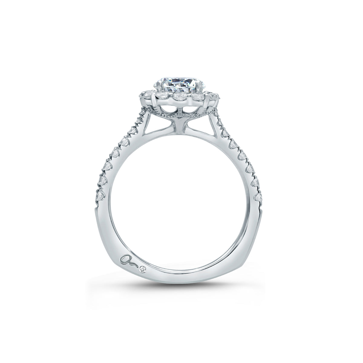 A.Jaffe Round Halo Engagement Ring MES822/176