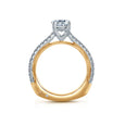 A.Jaffe Round Pave Two Tone Accent Modern Engagement Ring MES848/131