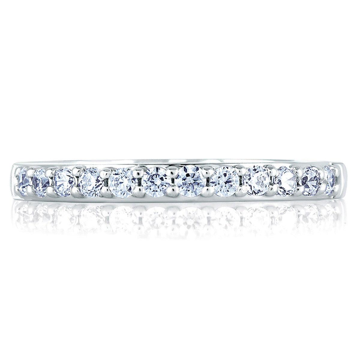A. Jaffe Classic Prong Set Diamond Wedding Band MR1353/14