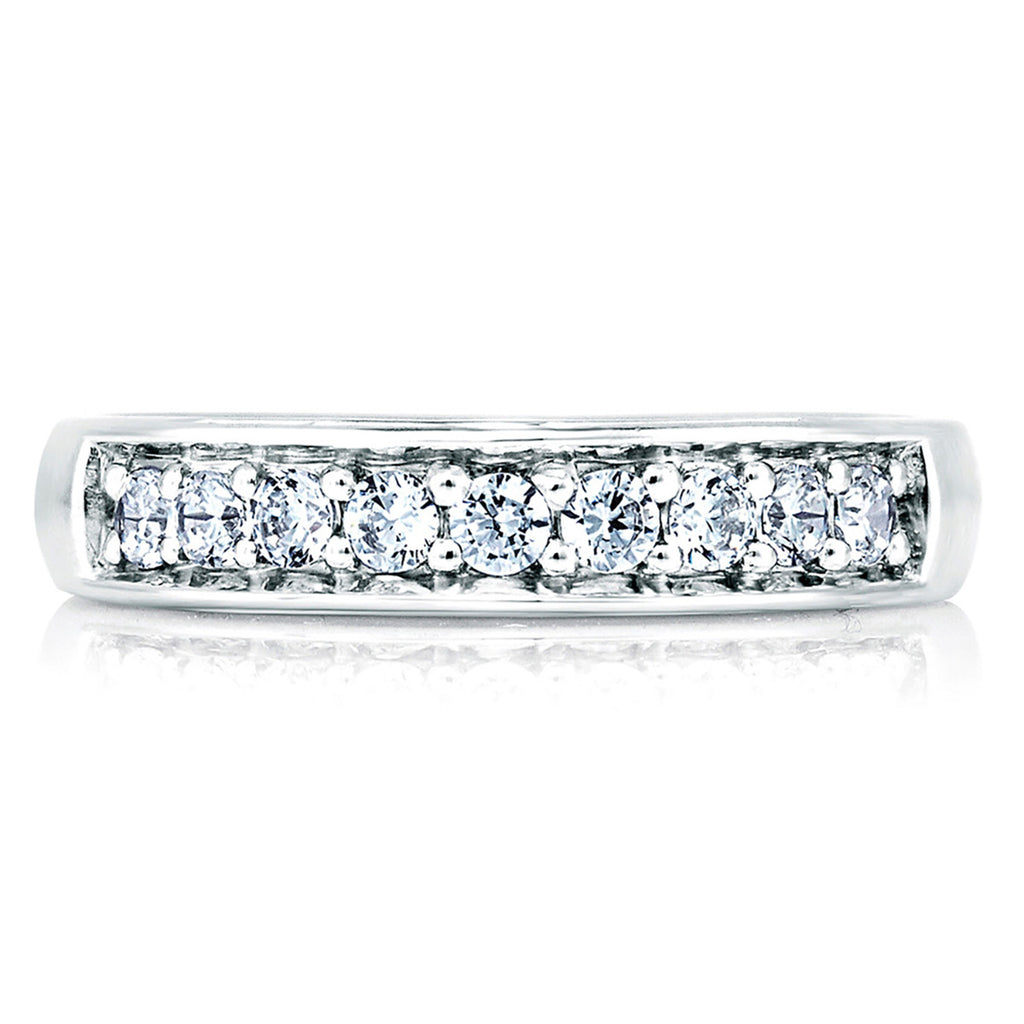 A Jaffe Elegant Diamond Band With Studded Profile MRS025 66