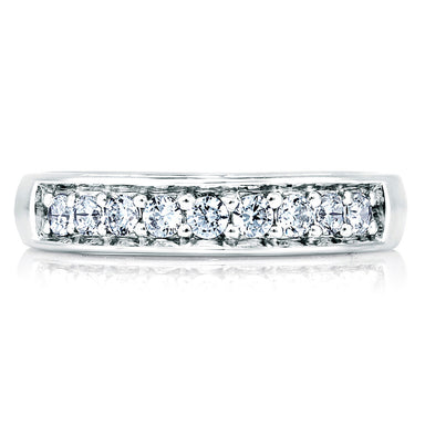 A. Jaffe Elegant Diamond Band with Diamond Studded Profile MRS025/66