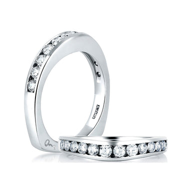 A. Jaffe Channel Set Wedding Band MRS032/PL