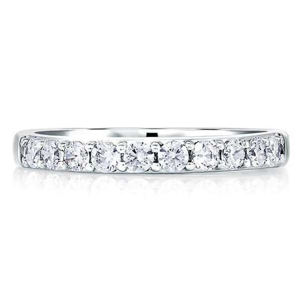 A. Jaffe Classic Signature Eleven Diamond Shared Prong Band MRS078/26