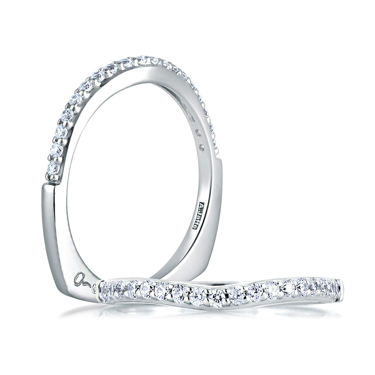 A. Jaffe Shared Prong Diamond Wedding Brand MRS144/24