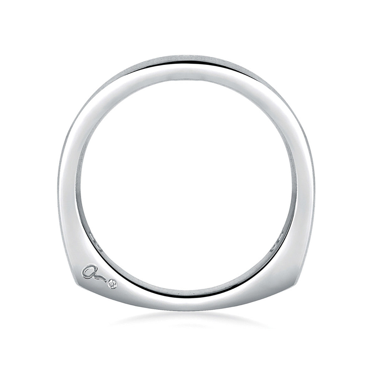 A. Jaffe Simple Classic Signature Wedding Band MRS166/PL