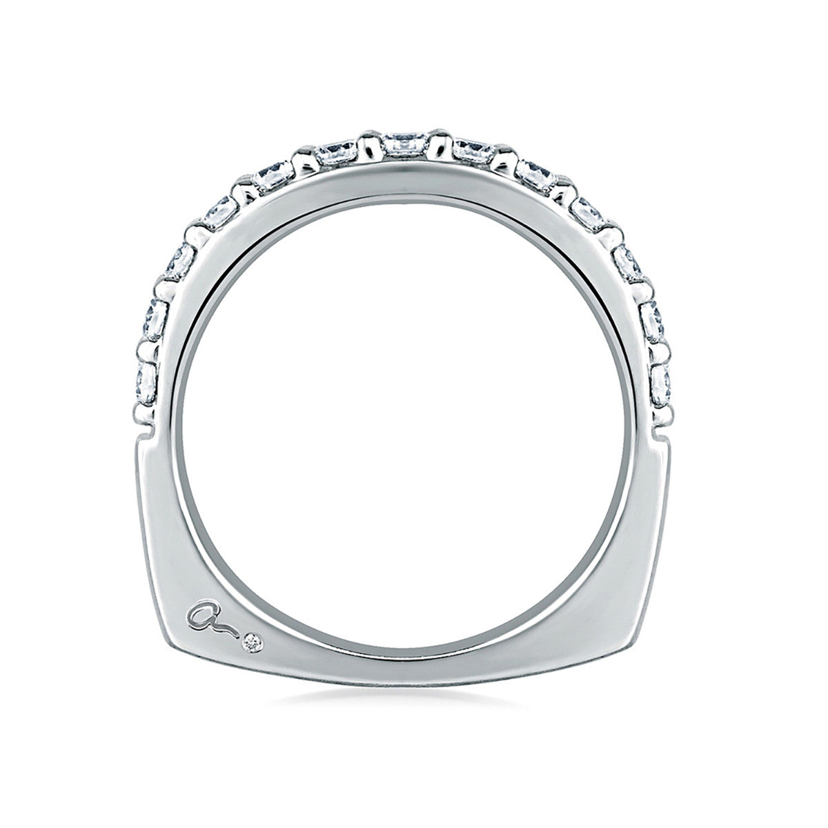 A. Jaffe Halfway Shared Prong Diamond Wedding Band MRS168/21