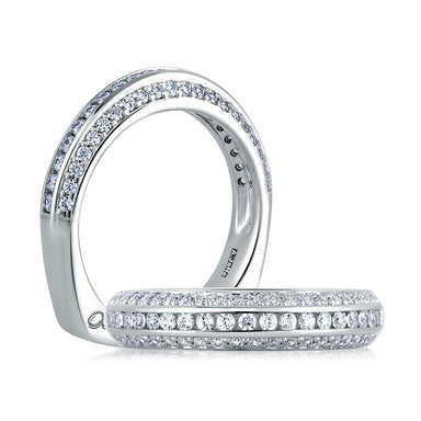 A. Jaffe Classic Three Row Diamond Signature Band MRS235/59