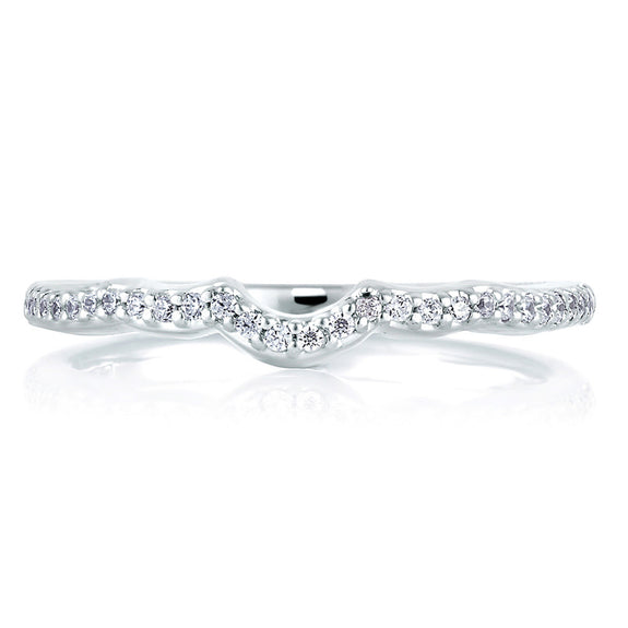 A. Jaffe Shared Prong Curved Signature Band MRS283/15