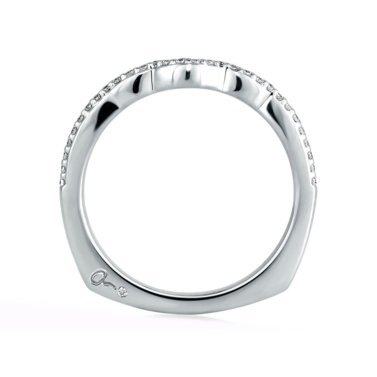 A. Jaffe Shared Prong Curved Diamond Wedding Band MRS283/15