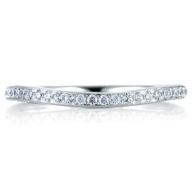 A. Jaffe Curved Pave Set Signature Band MRS332/19