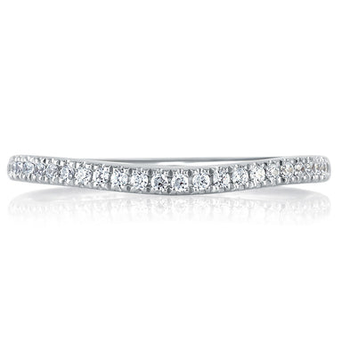 A. Jaffe Sparkling Pave Set Signature Band MRS333/18