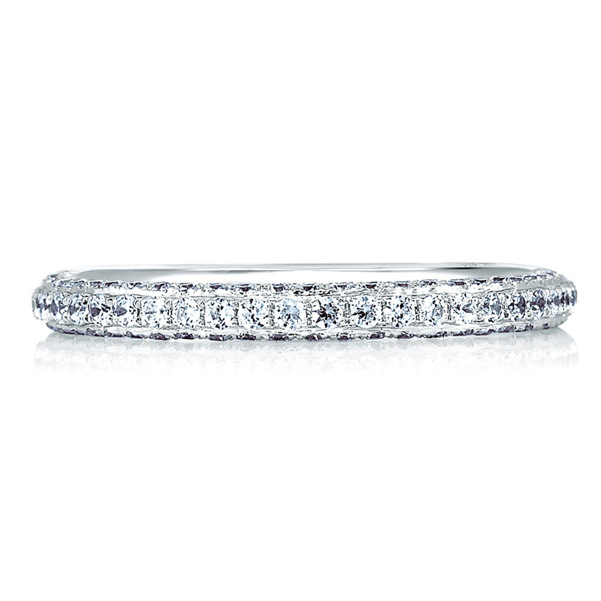 A. Jaffe Signature Pave with Diamond Encrusted Profile Band MRS379/46