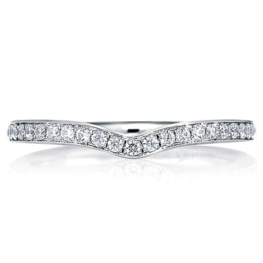 A. Jaffe Halfway Classic V-Shaped Signature Contour Band MRS415/19
