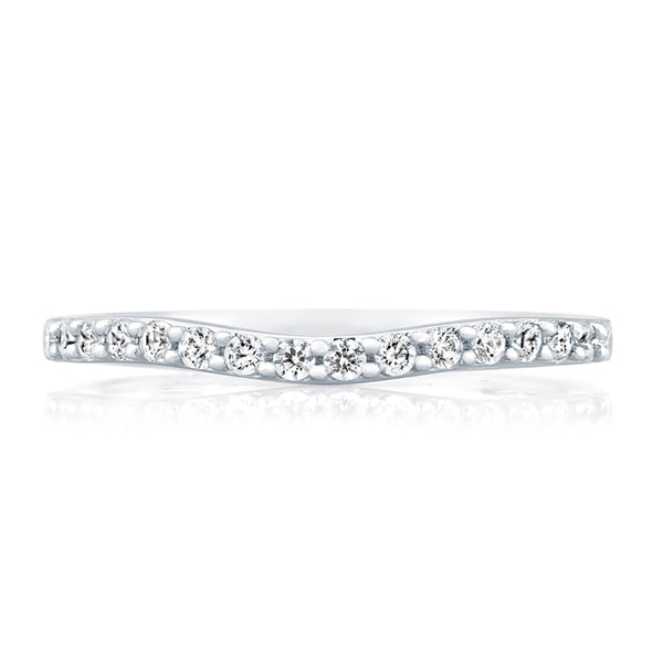 A. Jaffe Delicate Pave Contour Wedding Band MRS477/24
