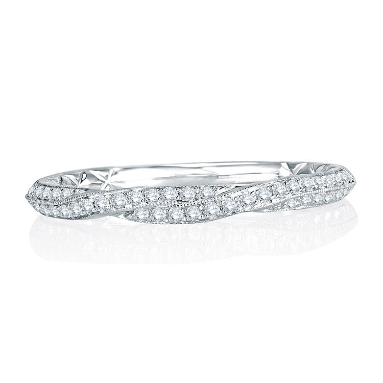 A. Jaffe Delicate Quilted Diamond Anniversary Band MRS740Q/18