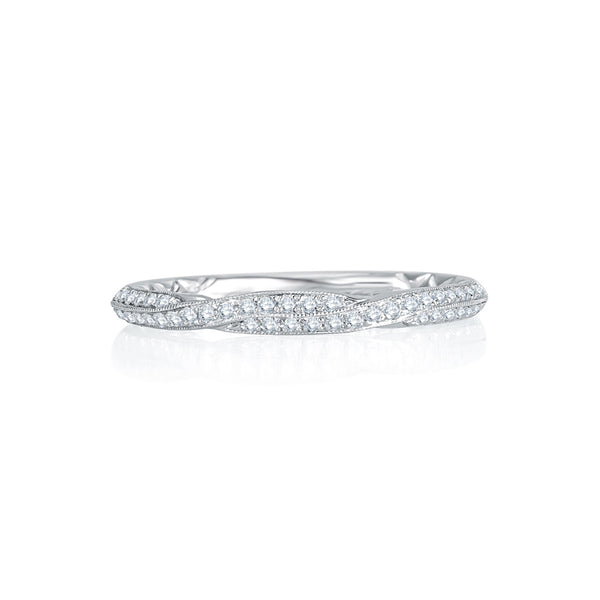 A. Jaffe Exquisite Delicate Quilted Diamond Anniversary Band MRS741Q/18