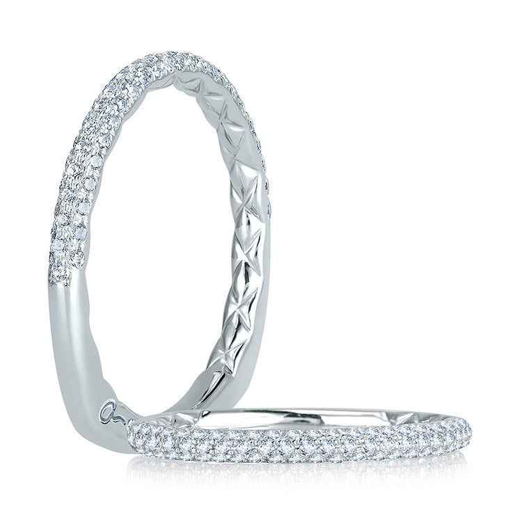 A. Jaffe Delicate Quilted Diamond Anniversary Band MRS749Q/29