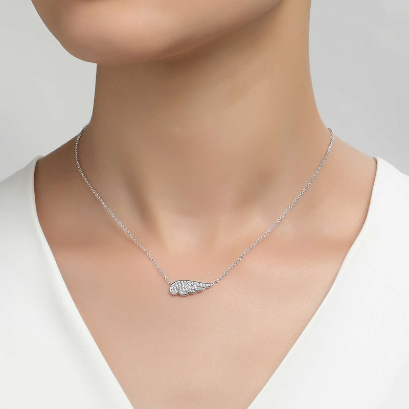 Lafonn Signature Lassaire Simulated Diamond Angel Wing Necklace N0018CLP