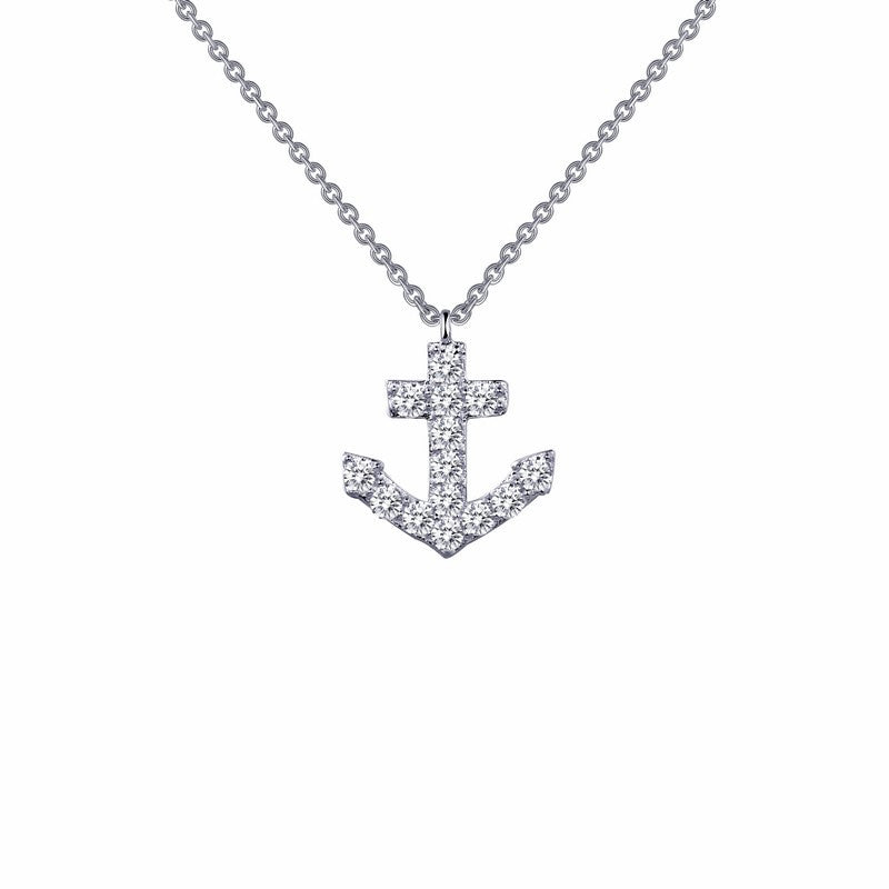 Lafonn Signature Lassaire Simulated Diamond Anker Necklace N0024CLP