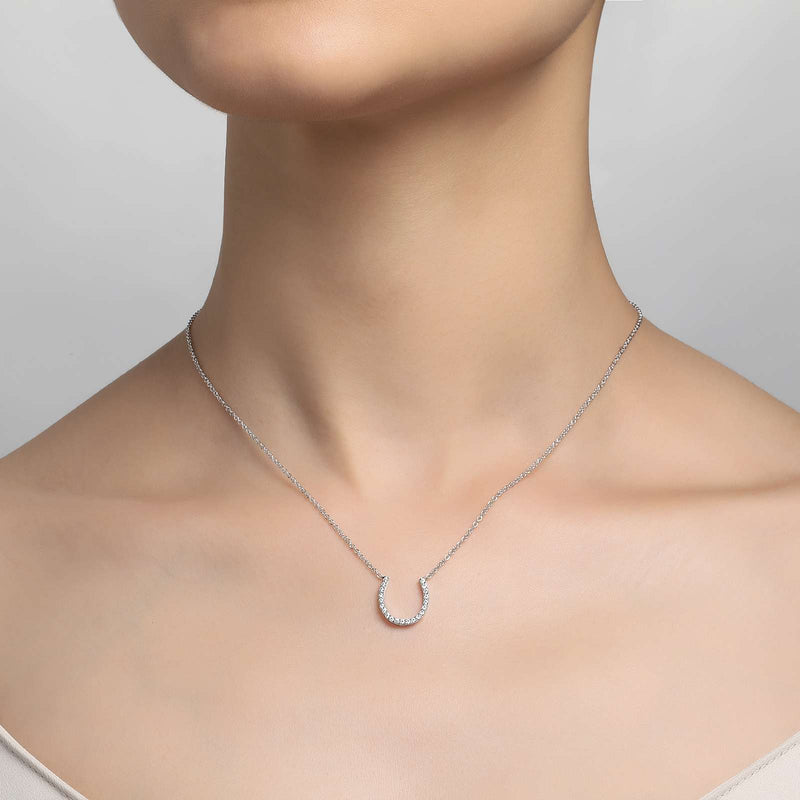 Lafonn Signature Lassaire Simulated Diamond Horseshoe Necklace N0026CLP