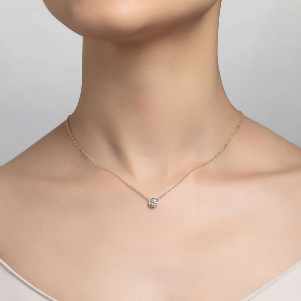 Lafonn Signature Lassaire Simulated Diamond Bezel Necklace N0030CLG