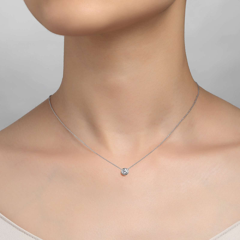 Lafonn Signature Lassaire Simulated Diamond Bezel Necklace N0030CLP