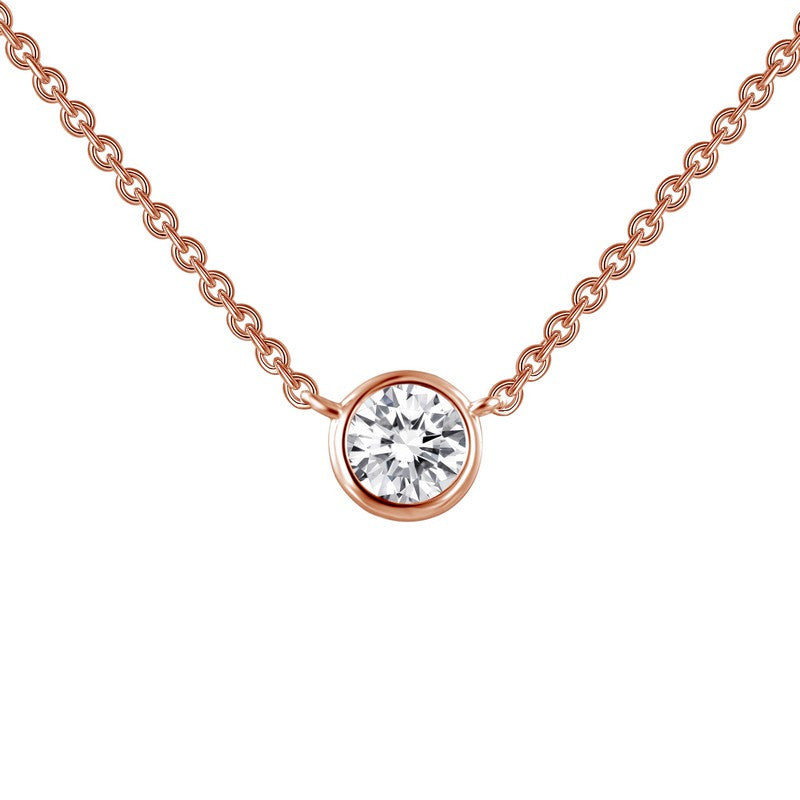 Lafonn Signature Lassaire Simulated Diamond Bezel Necklace N0030CLR