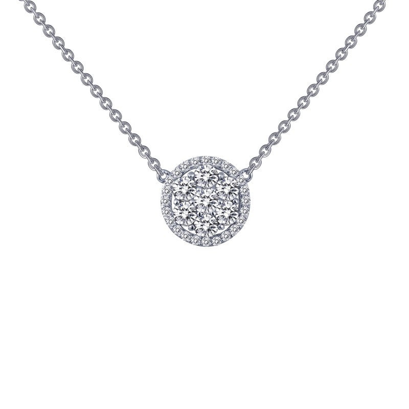 Lafonn Signature Lassaire Simulated Diamond Halo Necklace N0031CLP18