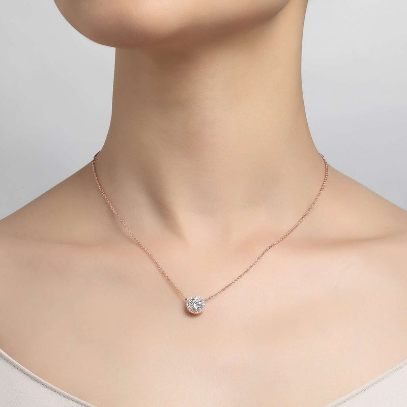 Lafonn Signature Lassaire Simulated Diamond Halo Necklace N0038CLR18