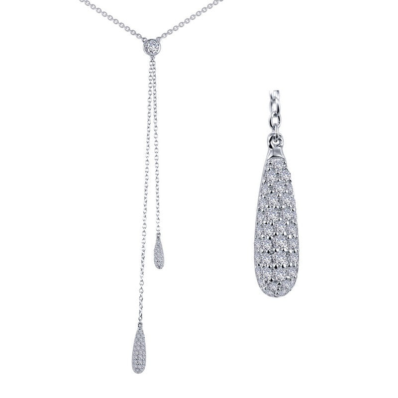 Lafonn Signature Lassaire Simulated Diamond Y-Necklace N0064CLP