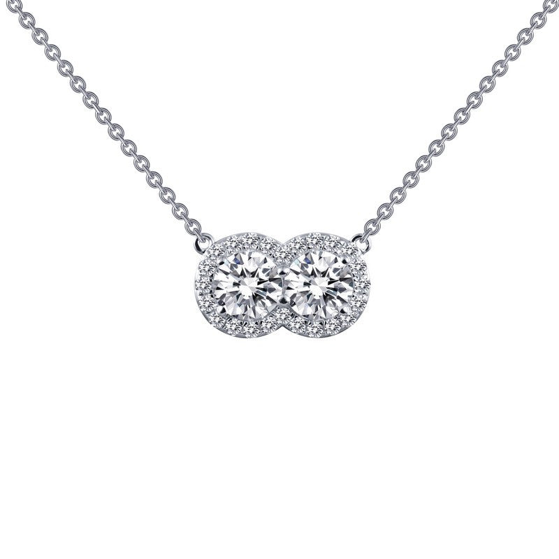 Lafonn Signature Lassaire Simulated Diamond Two Large Stone Necklace N0066CLP