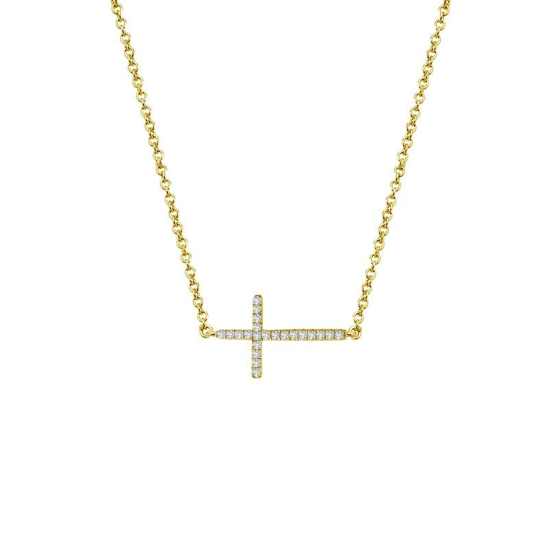 Lafonn Signature Lassaire Simulated Diamond Sideways Cross Necklace N2001CLG