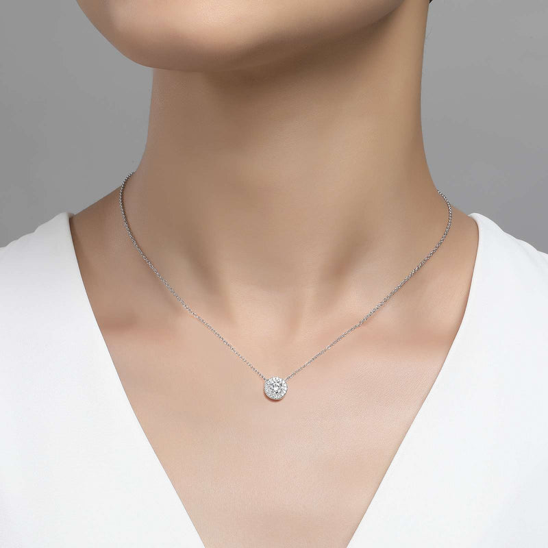 Lafonn Signature Lassaire Simulated Diamond Halo Necklace N2004CLP