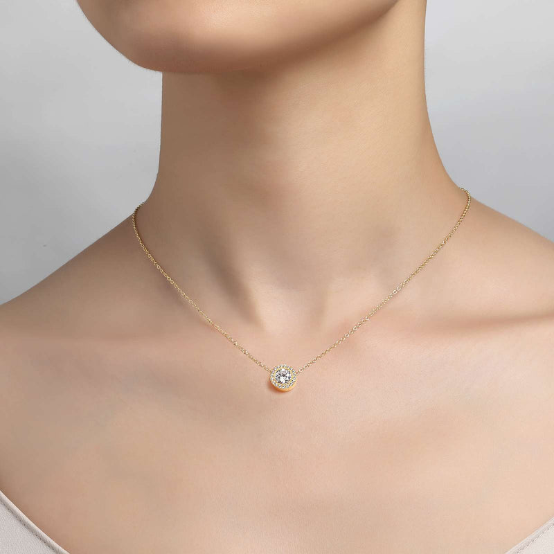 Lafonn Signature Lassaire Simulated Diamond Halo Necklace N2005CLG