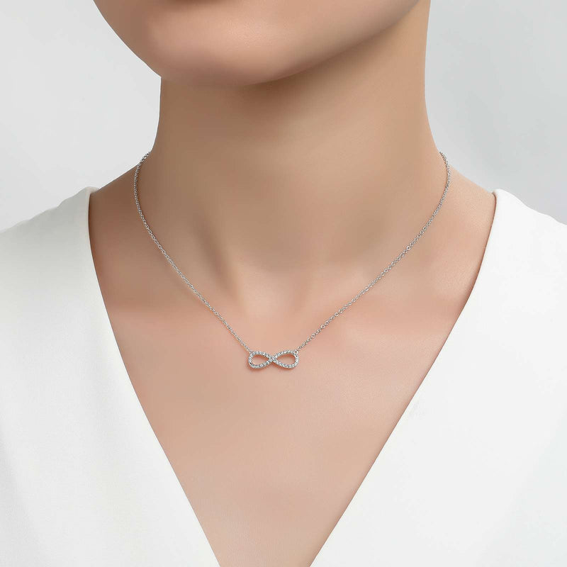 Lafonn Signature Lassaire Simulated Diamond Infinity Necklace N2011CLP