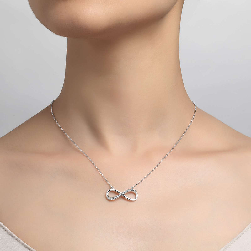 Lafonn Signature Lassaire Simulated Diamond Infinity Necklace N2013CLP