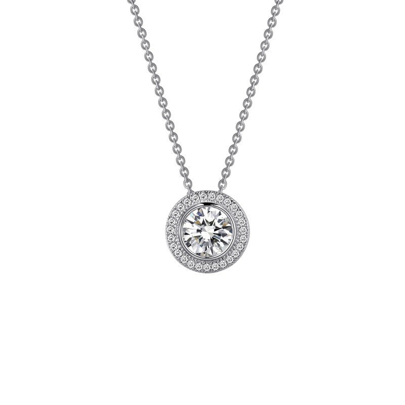 Lafonn Signature Lassaire Simulated Diamond Halo Necklace P0026CLP