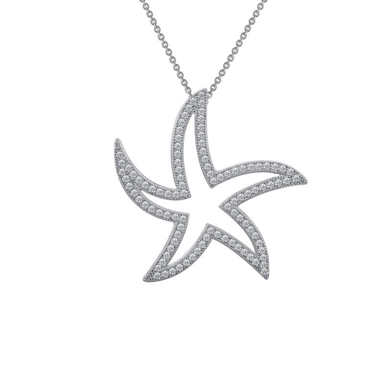 Lafonn Signature Lassaire Simulated Diamond Starfish Necklace P0033CLP