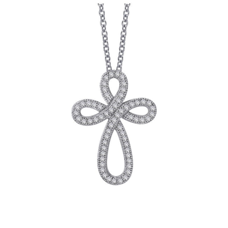 Lafonn Signature Lassaire Simulated Diamond Cross Necklace P0069CLP