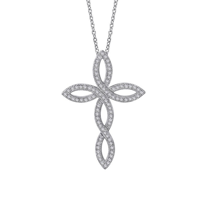 Lafonn Signature Lassaire Simulated Diamond Cross Necklace P0070CLP
