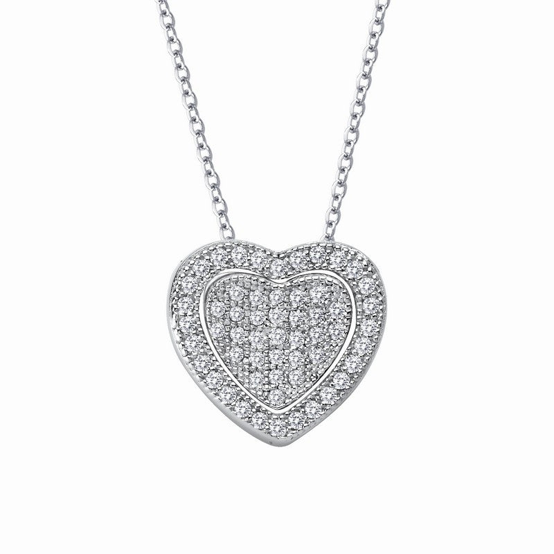 Lafonn Signature Lassaire Simulated Diamond Heart Necklace P0116CLP