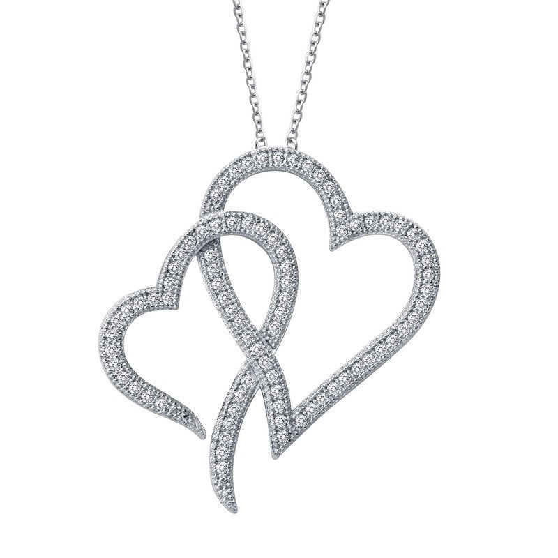 Lafonn Signature Lassaire Simulated Diamond Hearts Necklace P0121CLP