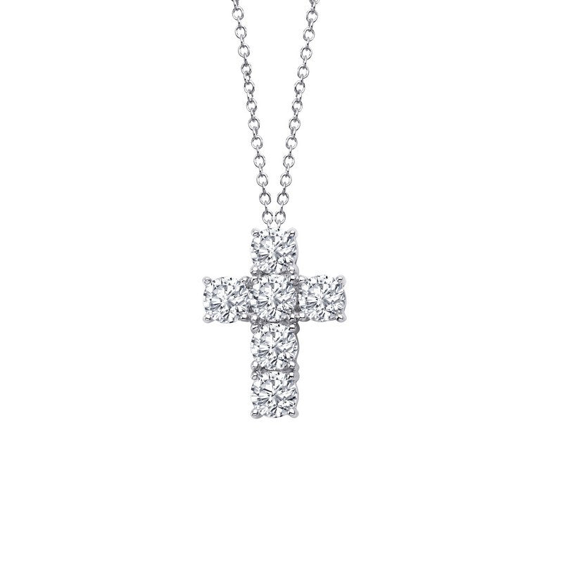 Lafonn Signature Lassaire Simulated Diamond Cross Necklace P0133CLP